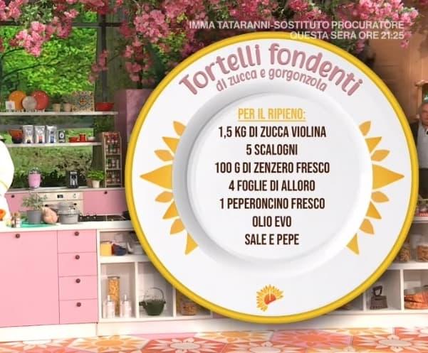 Tortelli fondenti zucca e gorgonzola, ricetta di Enrico Croatti E' sempre mezzogiorno (Foto)