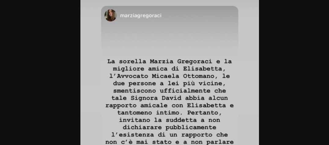 Arianna David dice di sapere che la Gregoraci è fidanzata: la sorella di Elisabetta interviene e smentisce