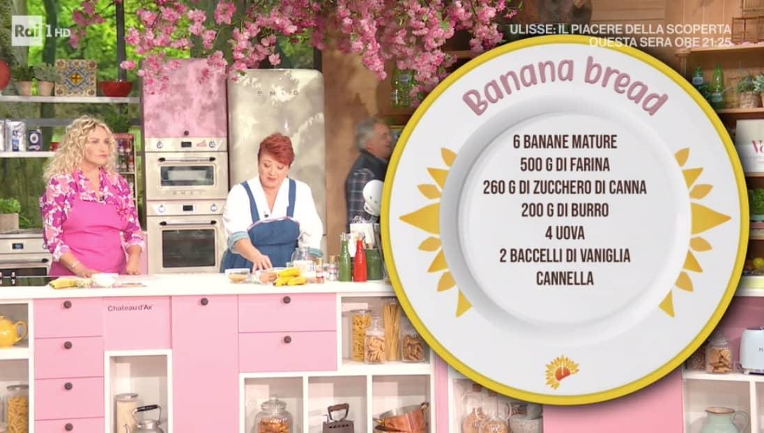 Banana bread è il dolce di Zia Cri di oggi, la ricetta E' sempre mezzogiorno (Foto)