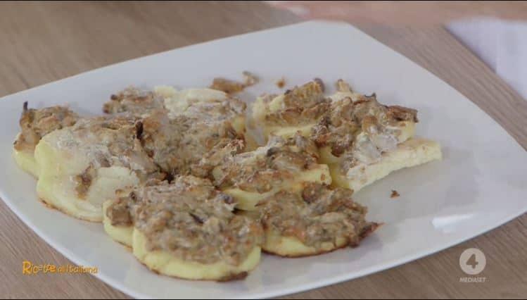 Da Ricette all'Italiana: gnocchi di semolino alla romana con funghi di Anna Moroni