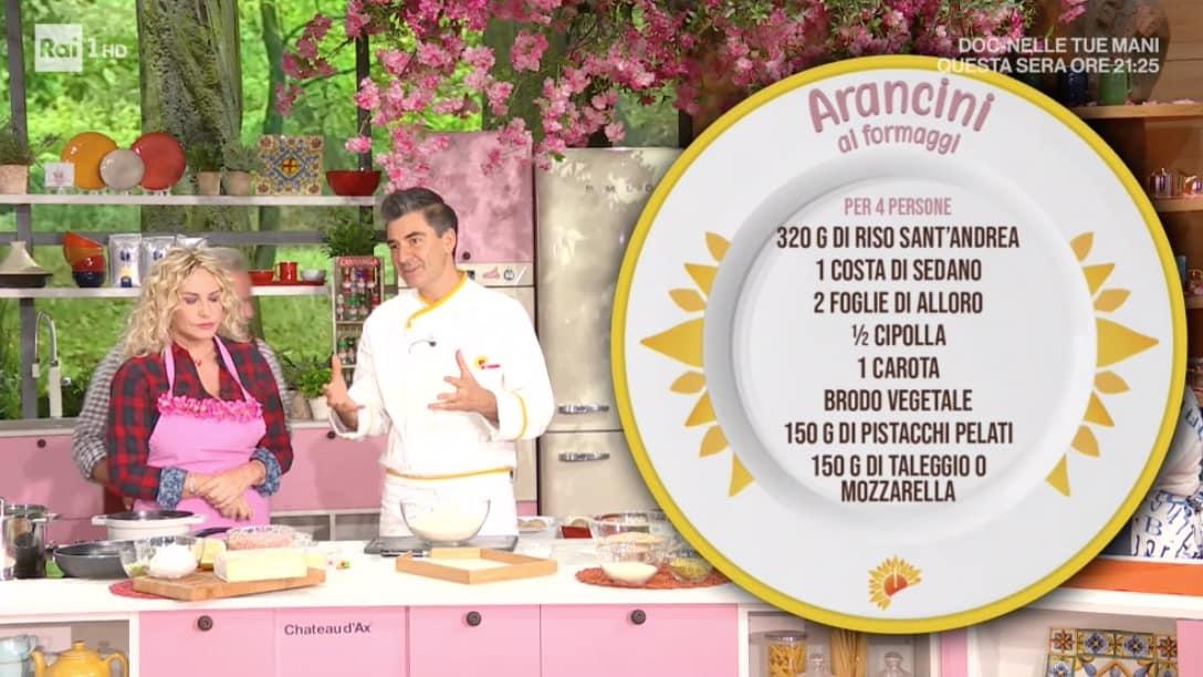 Sergio Barzetti prepara arancini ai formaggi, grandi ricette E'sempre mezzogiorno