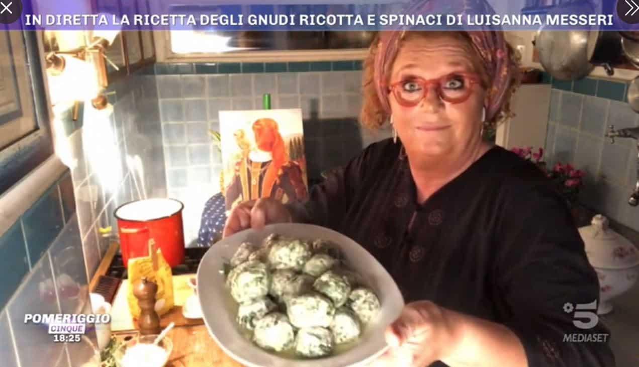 Gnudi ricotta e spinaci: una ricetta di Luisanna Messeri da Pomeriggio 5