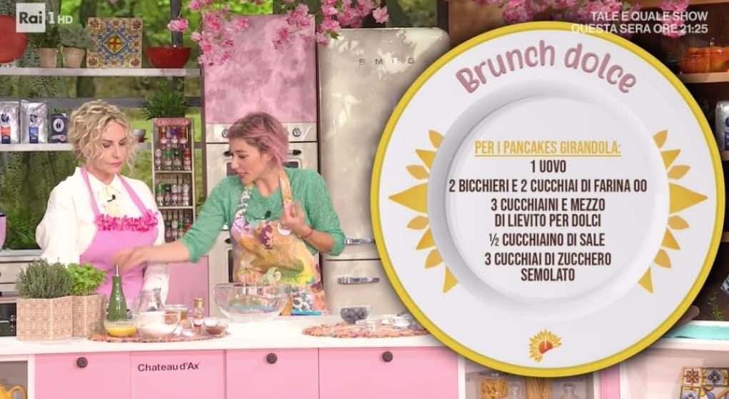 Pancakes girandola per E' sempre mezzogiorno la ricetta di Sara Brancaccio (Foto)