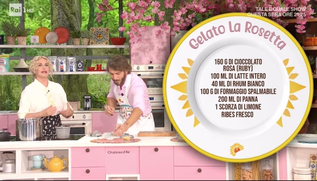 Il gelato la rosetta, la ricetta senza gelatiera da E' sempre mezzogiorno (Foto)