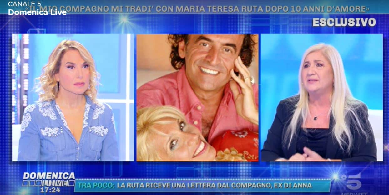 """Parla la ex del compagno di Maria Teresa Ruta: """"Mi ha tradito con lei, nostro figlio nato dopo anni d'amore"""""""