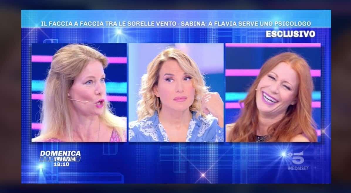 Le sorelle Vento a Domenica Live: Flavia Vento ha bisogno dello psicologo? (Foto)
