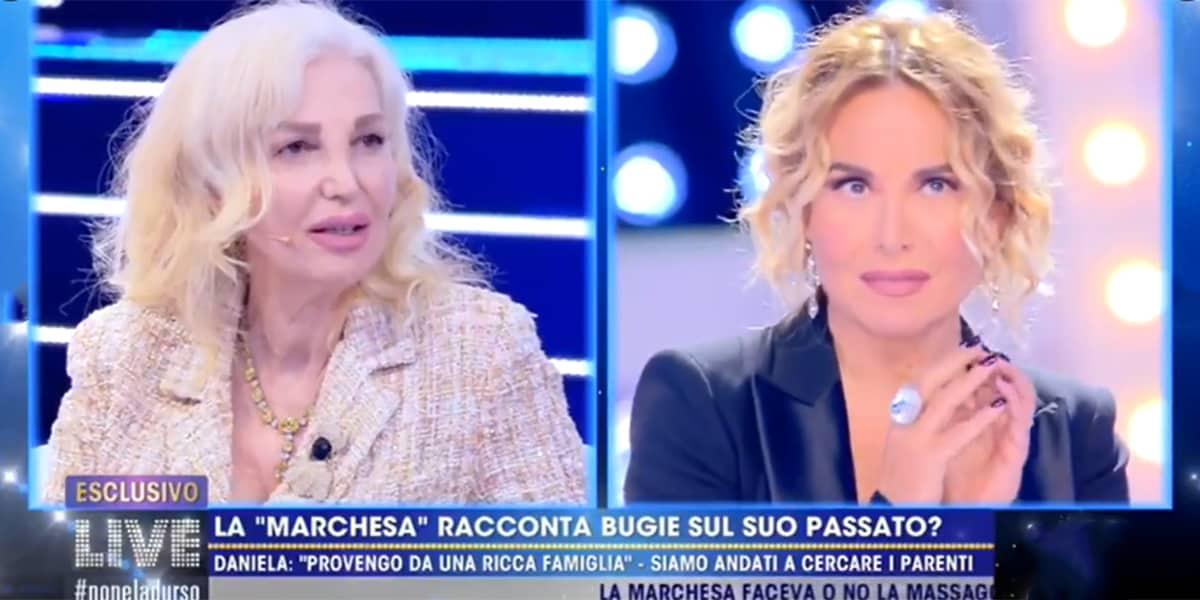 LIVE Non è La D'Urso: Marchesa D'Aragona sbugiarda Barbara D'Urso e la redazione