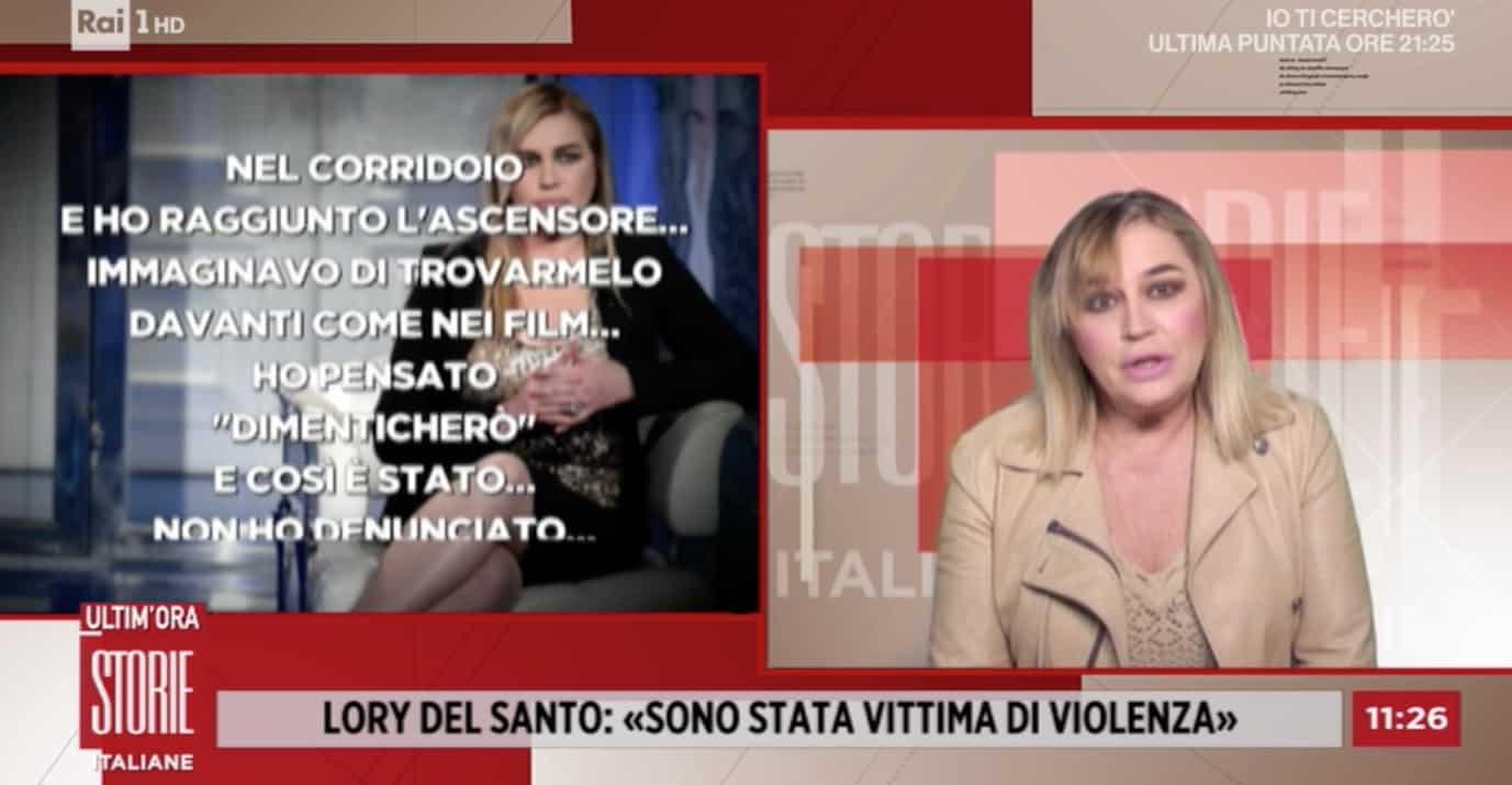 Lory Del Santo a Storie Italiane confessa una violenza subita, l'incubo di una notte (Foto)