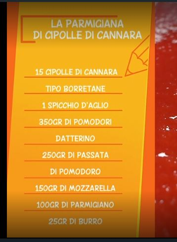 La parmigiana di cipolle di Cannara: una ricetta di Anna Moroni