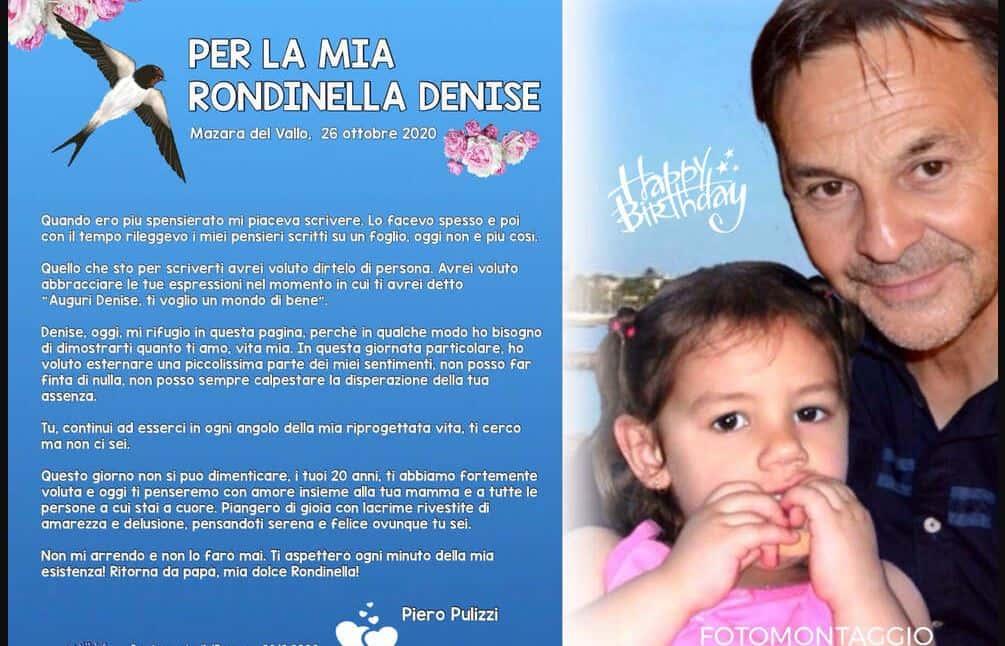 """Per il compleanno di Denise Pipitone la lettera del suo papà: """"Ti aspetterò ogni minuto della mia esistenza"""""""