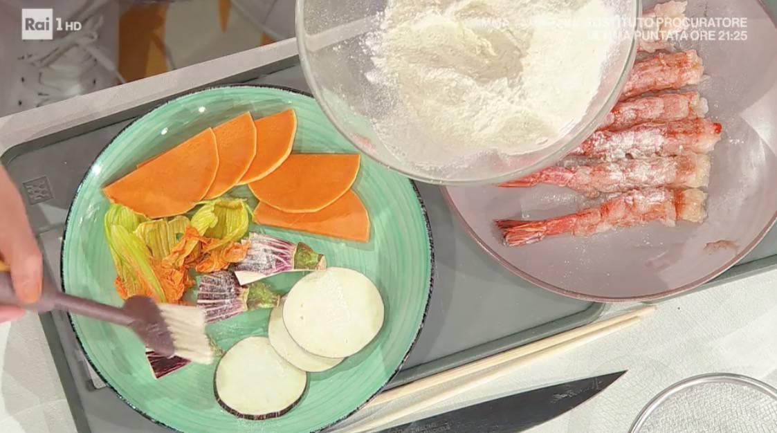 Tempura di Hiro Shoda, la ricetta con gamberi e verdure per E' sempre mezzogiorno