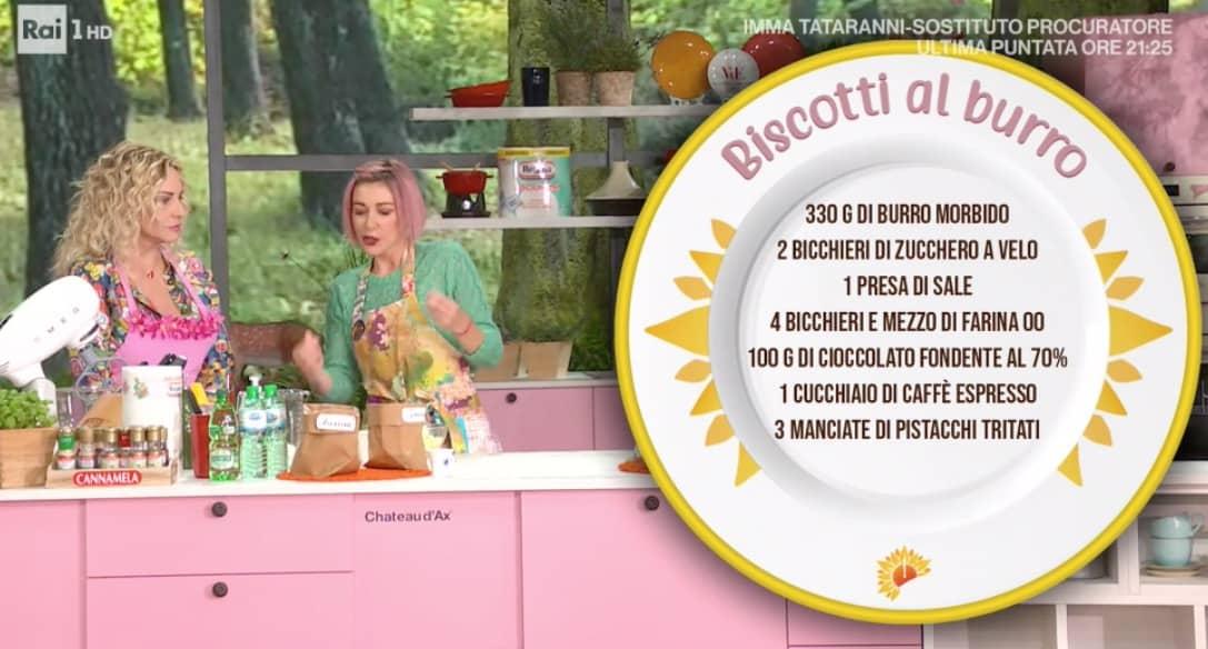 Biscotti al burro, la ricetta E' sempre mezzogiorno di Sara Brancaccio