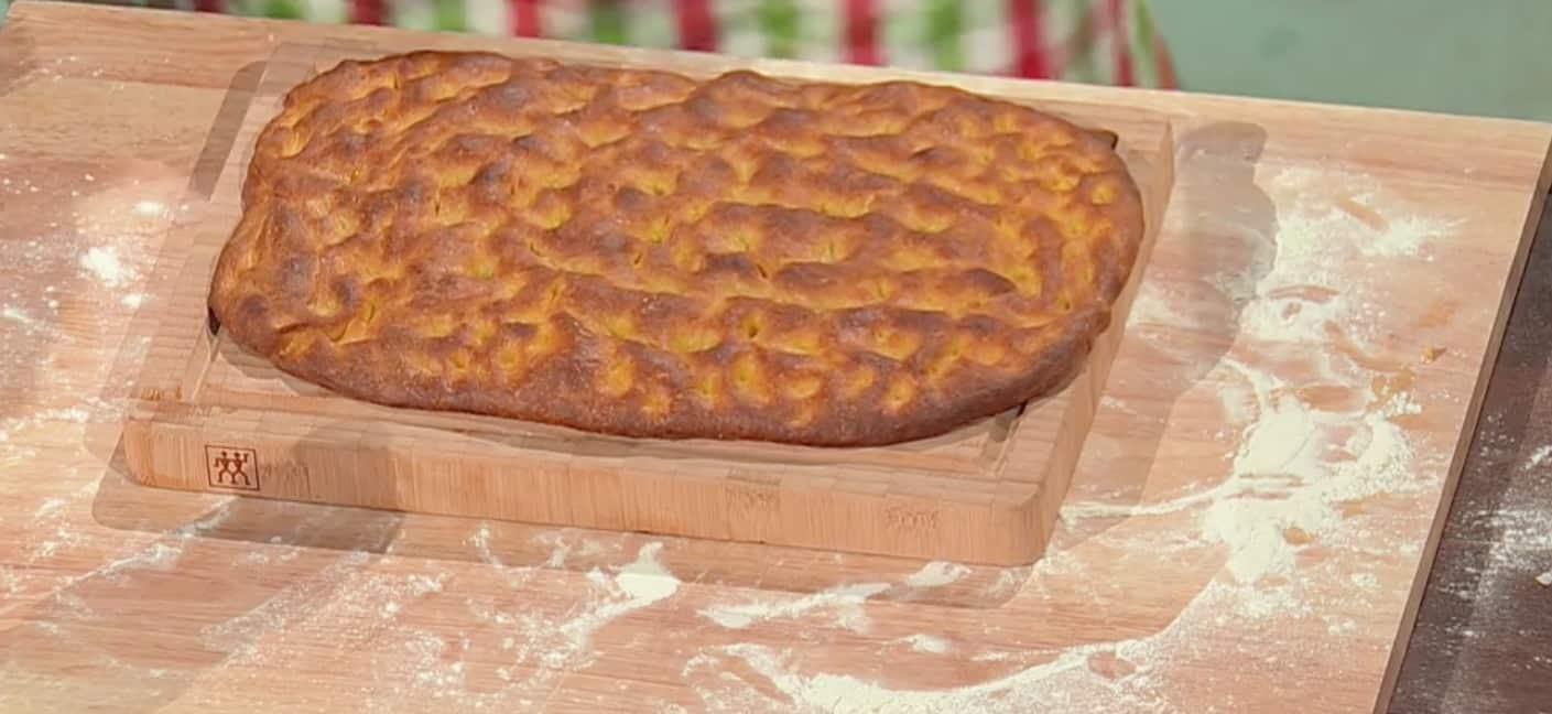 Panfocaccia alla zucca di Fulvio Marino per le ricette di oggi E' sempre mezzogiorno