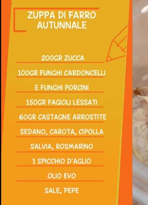 Zuppa di farro autunnale con la zucca: una ricetta di Anna Moroni