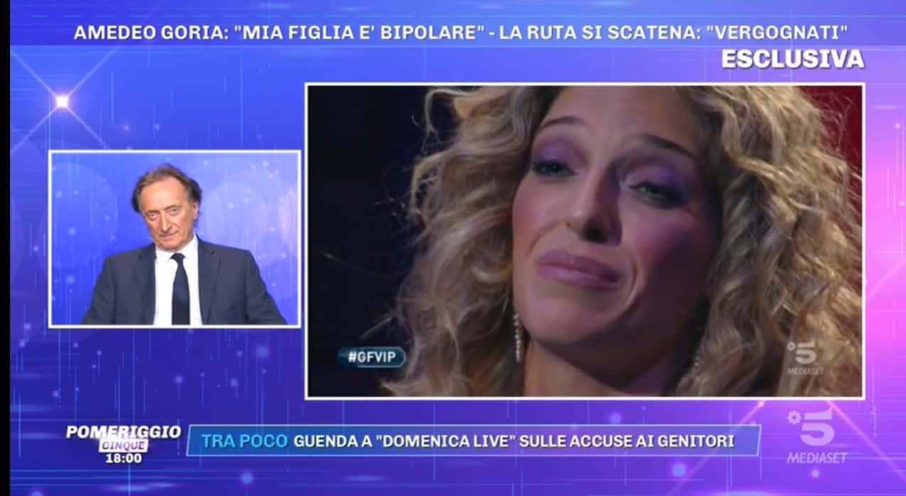 Amedeo Goria da Pomeriggio 5 prova a spiegare le parole che tanto hanno ferito Guenda