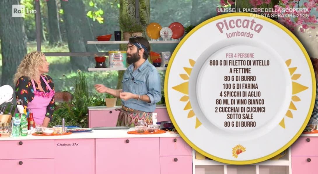 Piccata lombarda di Lorenzo Biagiarelli, le ricette E' sempre mezzogiorno