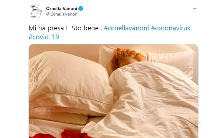 Ornella Vanoni positiva al covid 19 non perde la sua ironia