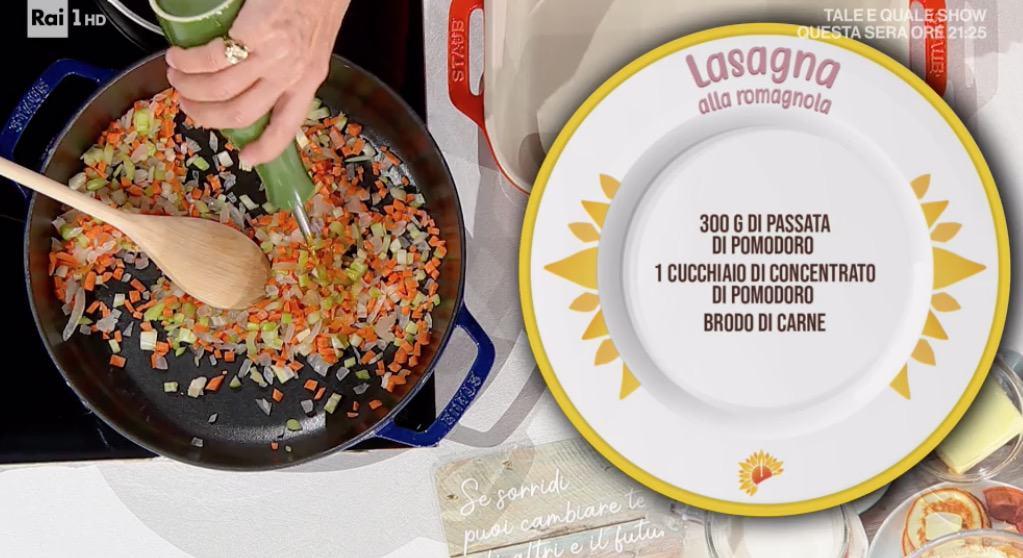 Zia Cri prepara la lasagna alla romagnola per le ricette E' sempre mezzogiorno (Foto)