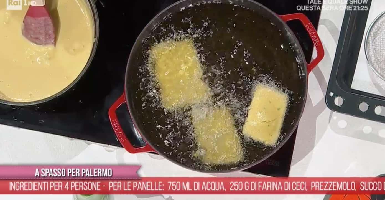 Fabio Potenzano prepara panelle, crocchè e rascatura, ricette E' sempre mezzogiorno
