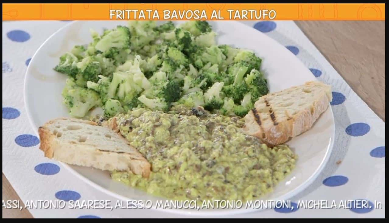 La ricetta della frittata bavosa con tartufi di Anna Moroni