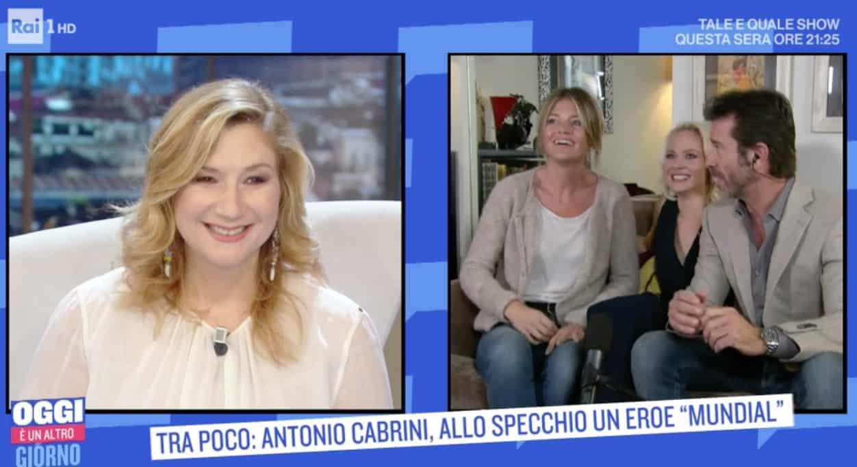 La moglie di Paolo Conticini a Oggi è un altro giorno (Foto)