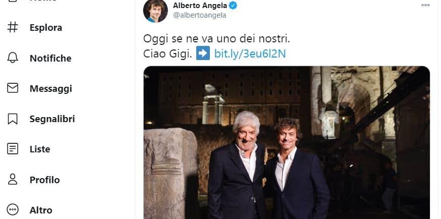 Il commosso addio di Alberto Angela a Gigi Proietti: uno degli uomini più veri mai incontrati
