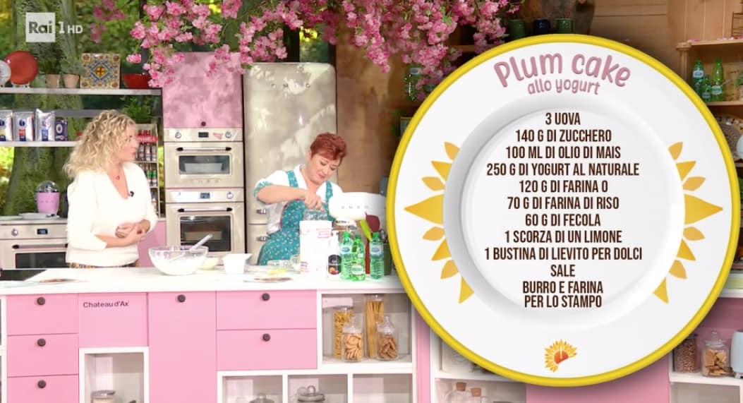 Ricetta Zia Cri, il plumcake allo yogurt per Mara Venier