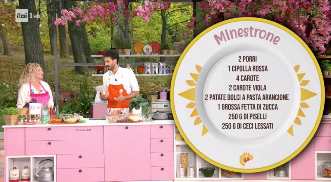 Ricette Marco Bianchi, facciamo il minestrone di E' sempre mezzogiorno