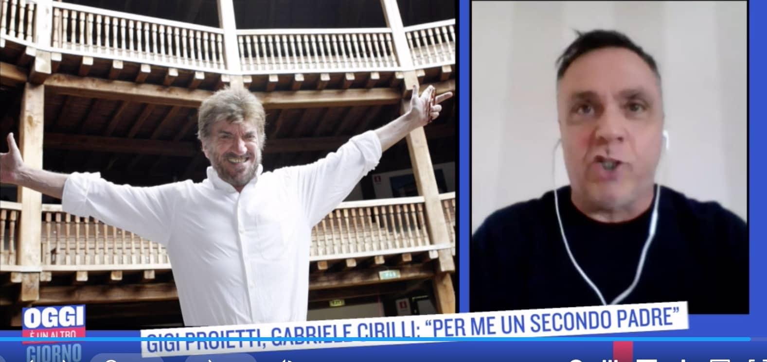 """Gabriele Cirilli: """"Gigi Proietti era il mio secondo papà, mi ha dato tutto"""""""
