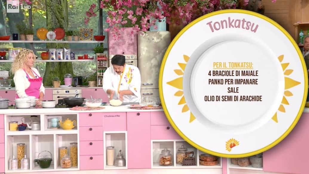 Tonkatsu è la ricetta di Hiro Shoda, le cotolette di maiale per E'sempre mezzogiorno