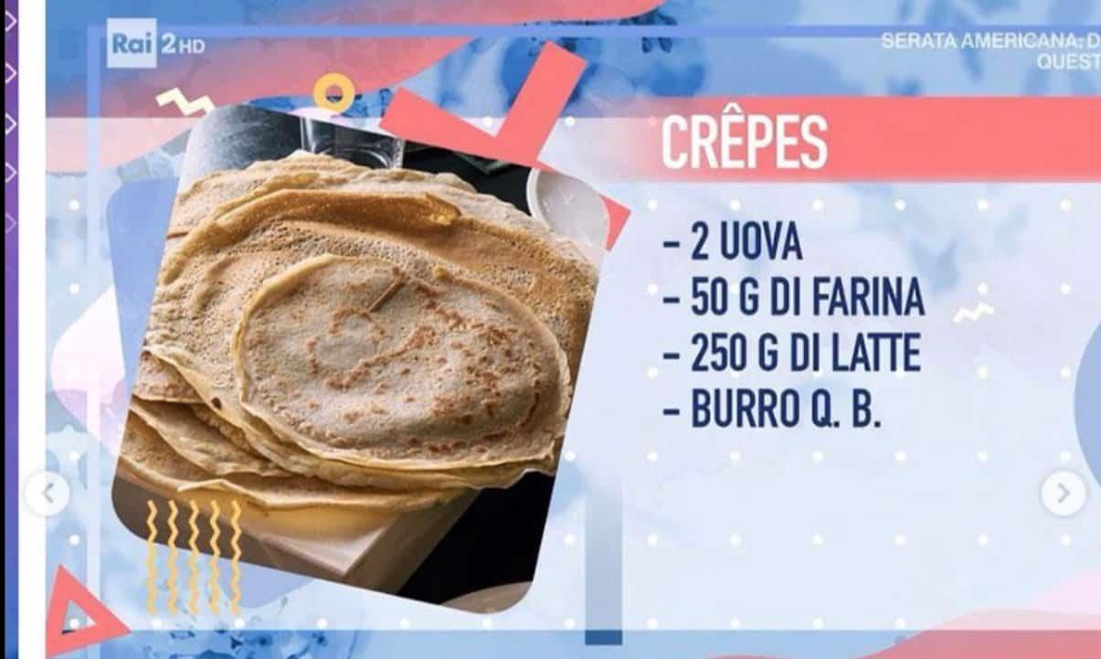 Ricette Detto Fatto, crêpes  soufflé con crema di formaggio di Cesare Marretti