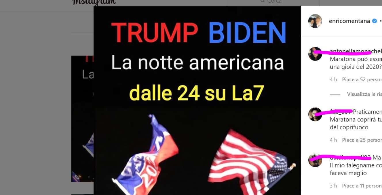 Maratona Mentana su La7 per seguire in diretta live le elezioni Usa 2020