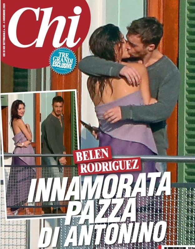C'è la prima copertina di Belen e Antonino tra baci, foto e capelli