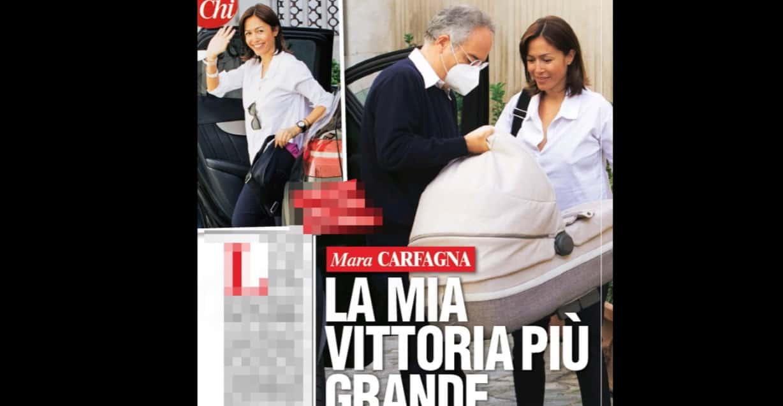 Mara Carfagna lascia l'ospedale con la figlia, il ritorno a casa è meraviglioso (Foto)