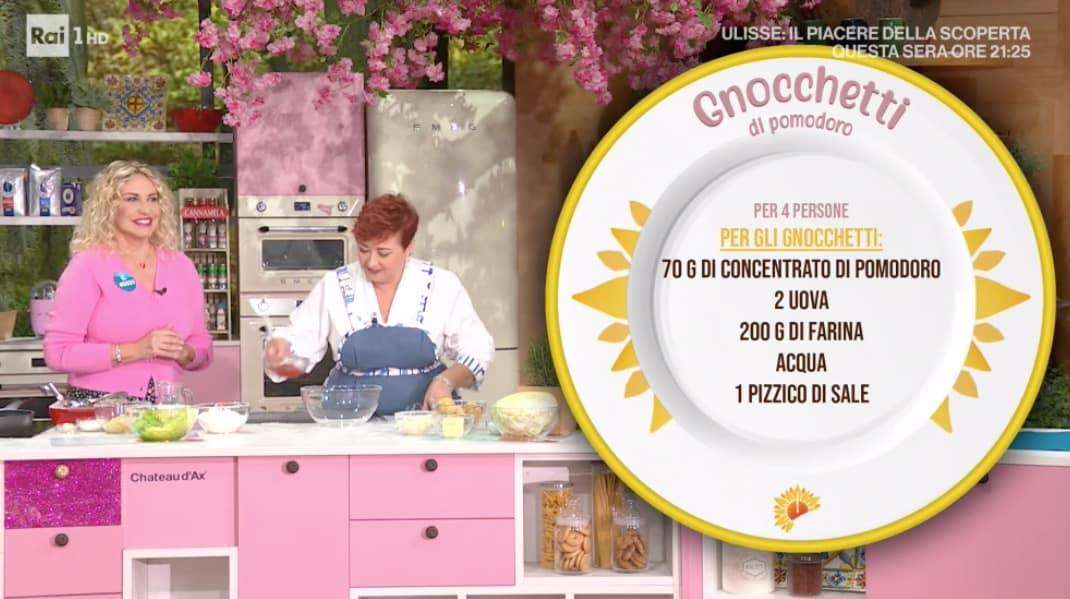 Le ricette di Zia Cri: gnocchetti di pomodoro per E' sempre mezzogiorno