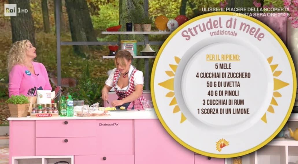Strudel di mele, il dolce di Barbara De Nigris per le ricette E' sempre mezzogiorno