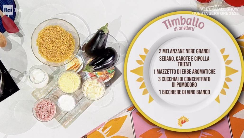 Timballo di anelletti al forno di Fabio Potenzano, le ricette E' sempre mezzogiorno di oggi