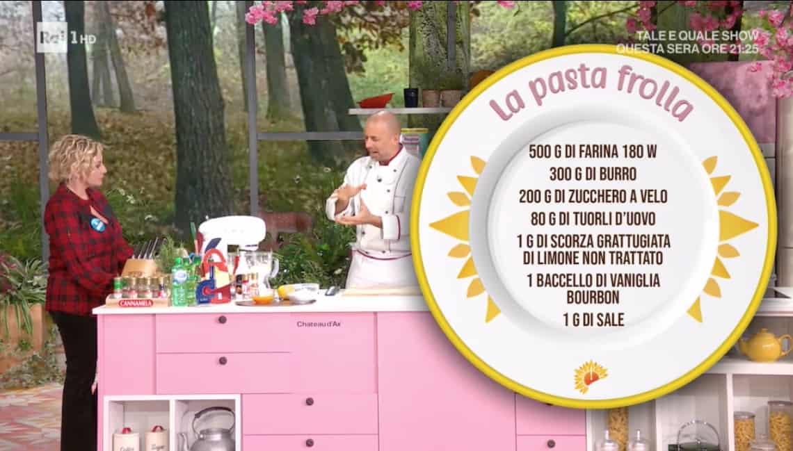 Ricette Luca Montersino: la pasta frolla friabile da E' sempre mezzogiorno
