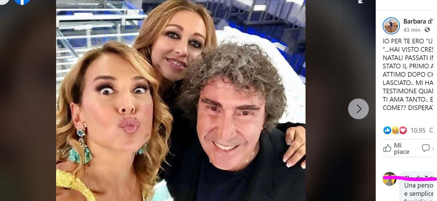 """Il dolore di Barbara d'urso per la morte di Stefano d'Orazio: """"Sono disperata"""""""