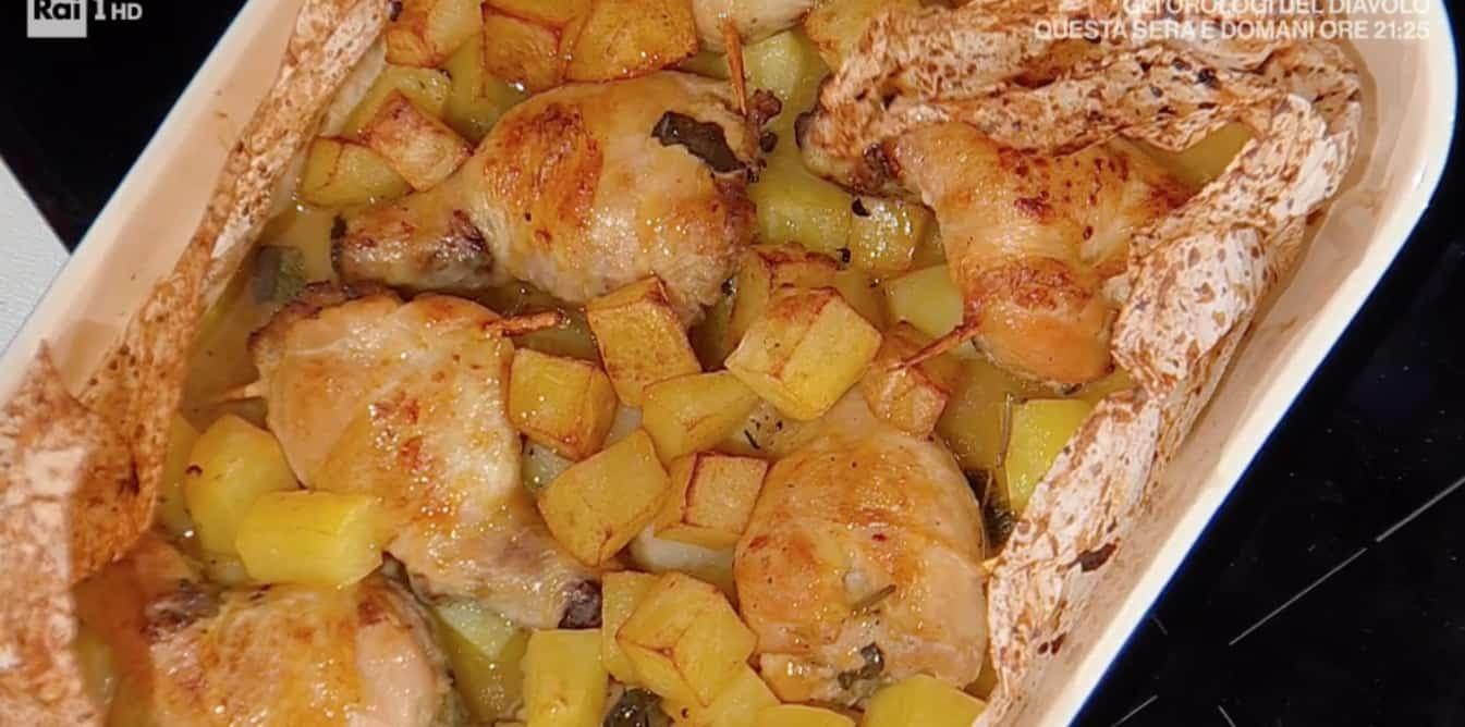Sergio Barzetti: fusi di pollo con patate e birra, le ricette E' sempre mezzogiorno