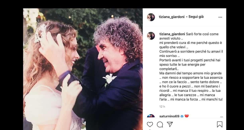 """Tiziana scrive a Stefano D'Orazio: """"Dammi del tempo amore mio grande"""" (Foto)"""