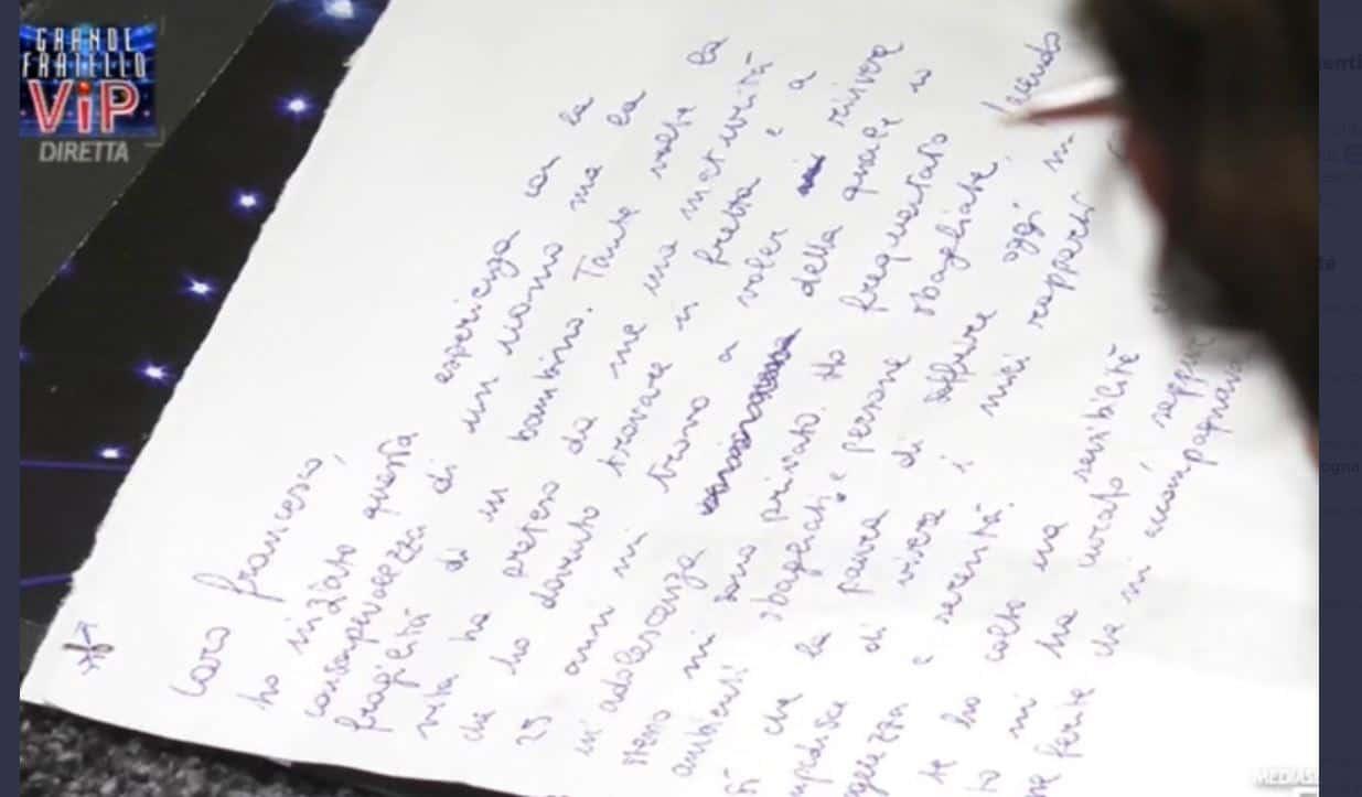 La lettera di Tommaso Zorzi a Francesco Oppini: è di nuovo pace