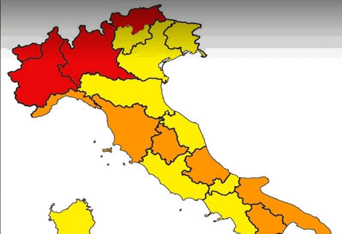 Nuove zone rosse e arancioni: le regioni che potrebbero cambiare colore domani