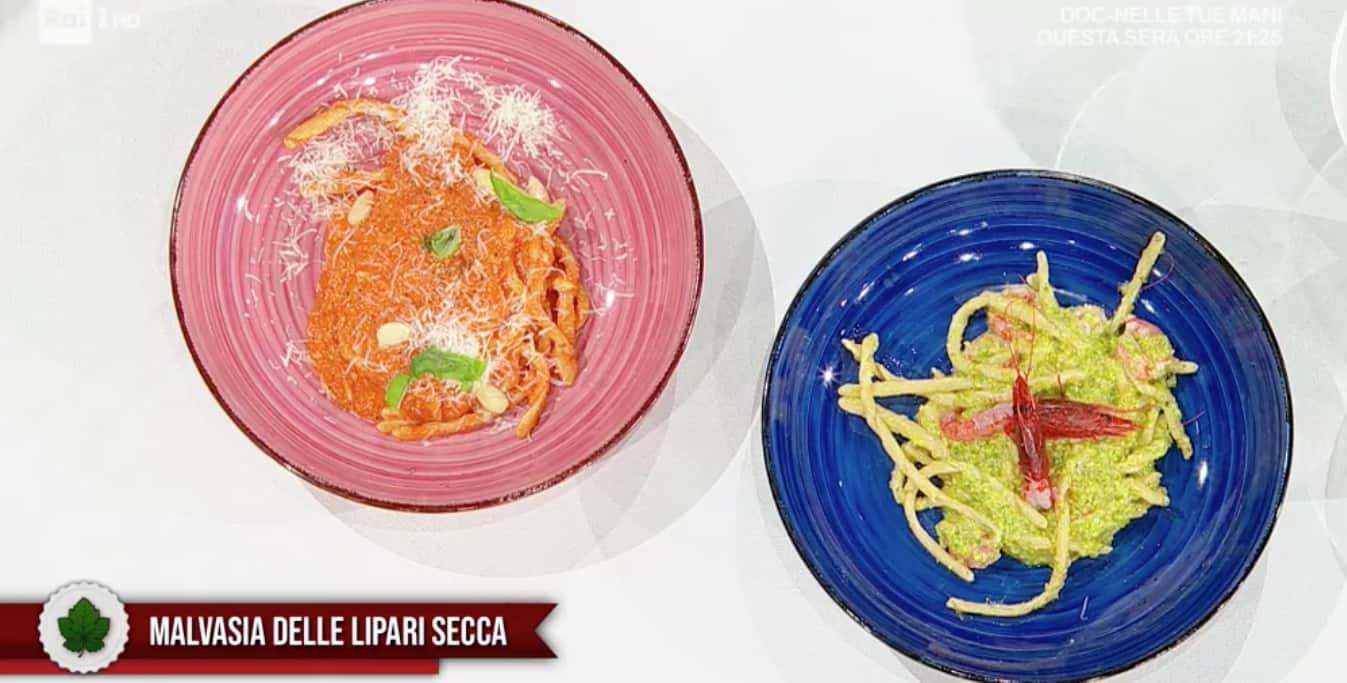 Busiate ai due pesti di Fabio Potenzano, la ricetta E' sempre mezzogiorno