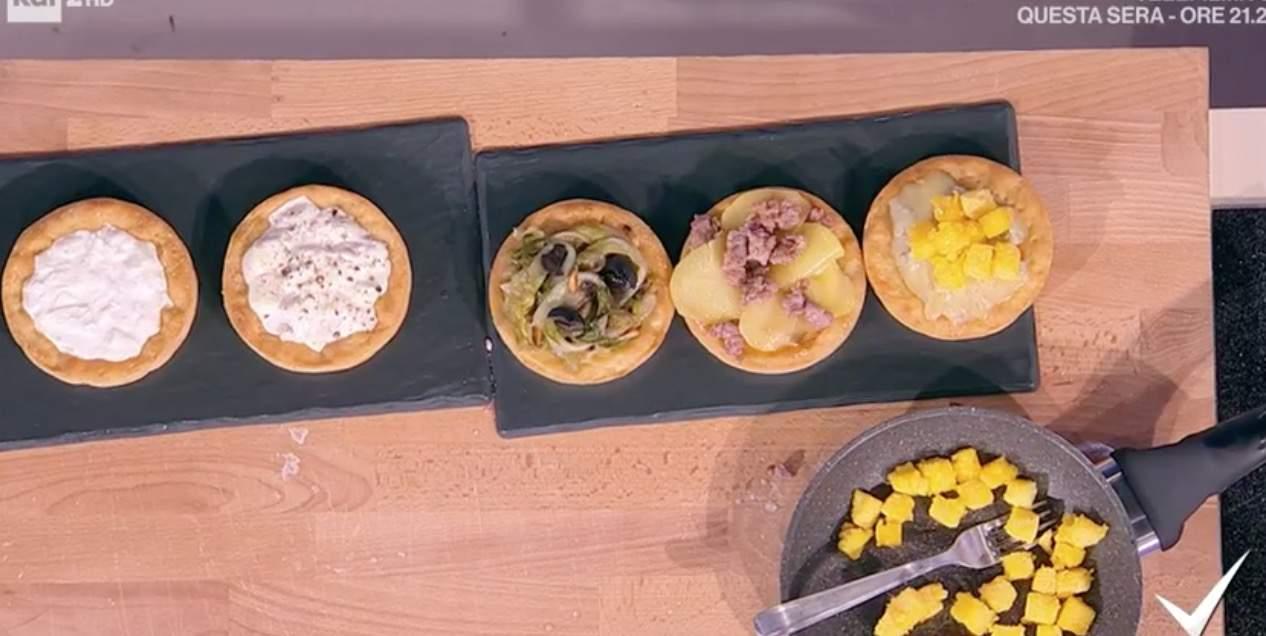 Piccola pizza, la ricetta Detto Fatto delle pizzette di Gianfranco Iervolino