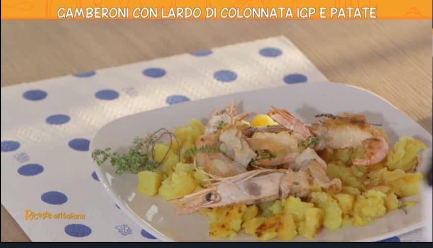 Gamberoni con lardo di Colonnata e patate di Anna Moroni