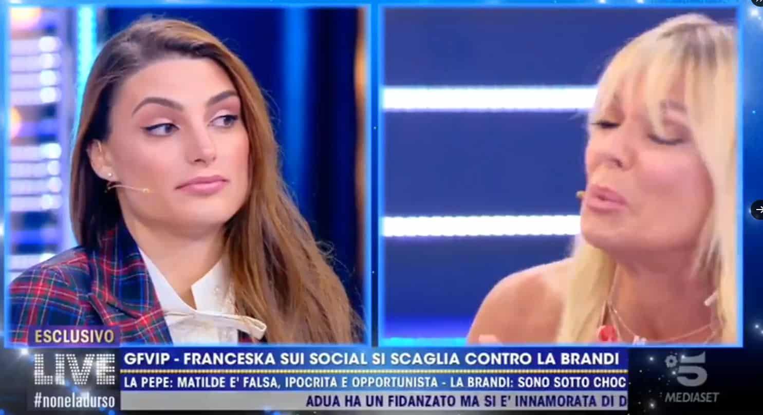Matilde Brandi in lacrime: Franceska Pepe non si lascia intimorire