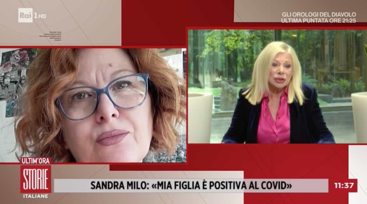 Sandra Milo in lacrime per sua figlia Debora ancora positiva e chiusa in casa