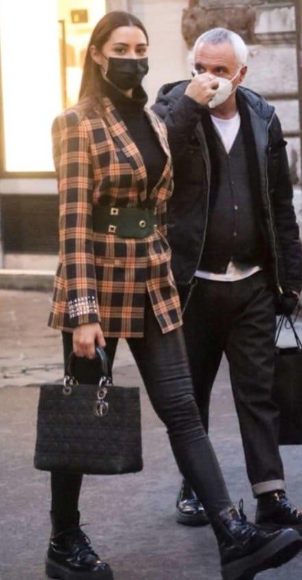 Giorgio Panariello con prudenza fa shopping con la bellissima fidanzata (Foto)