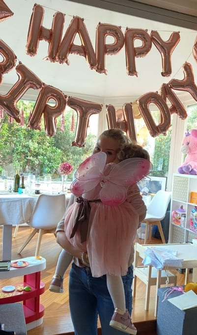 Costanza Caracciolo e Bobo Vieri per la festa di compleanno di Stella hanno addobbato tutta la casa (Foto)